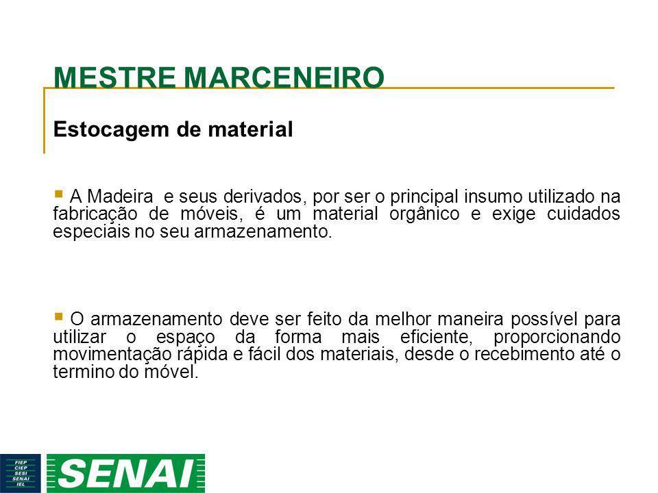 MESTRE MARCENEIRO Estocagem de material