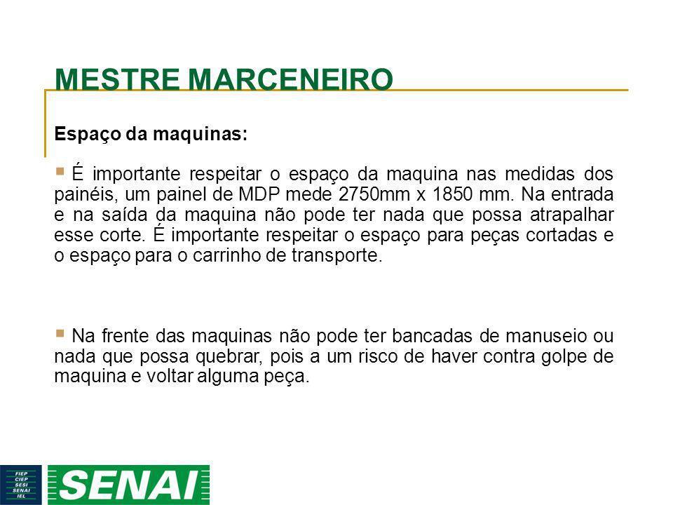 MESTRE MARCENEIRO Espaço da maquinas: