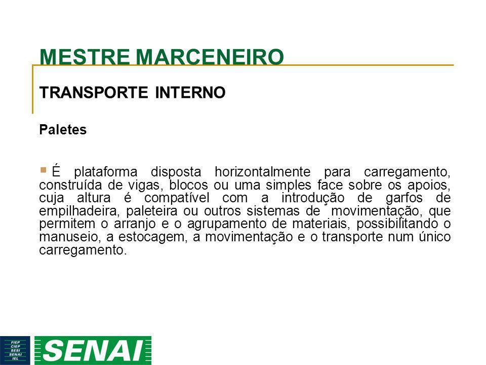 MESTRE MARCENEIRO TRANSPORTE INTERNO Paletes
