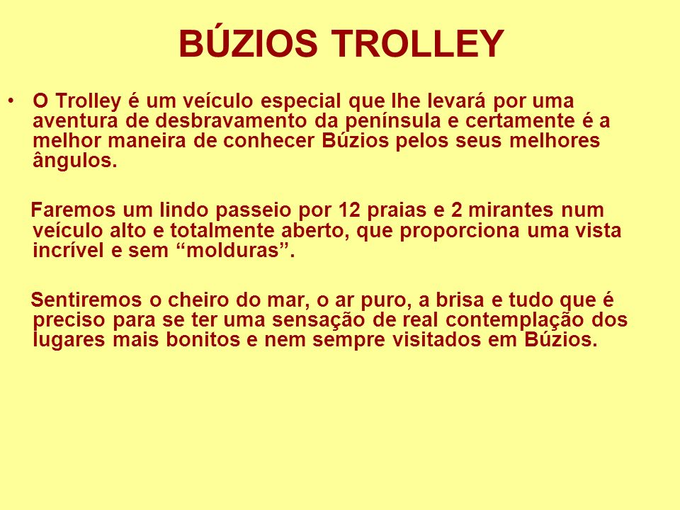 BÚZIOS TROLLEY