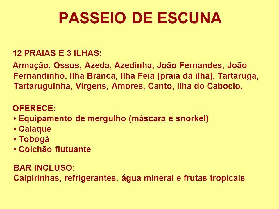 PASSEIO DE ESCUNA 12 PRAIAS E 3 ILHAS: