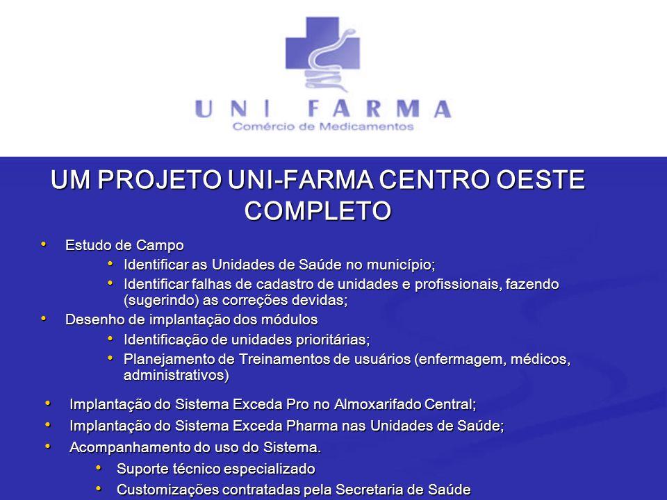 UM PROJETO UNI-FARMA CENTRO OESTE COMPLETO