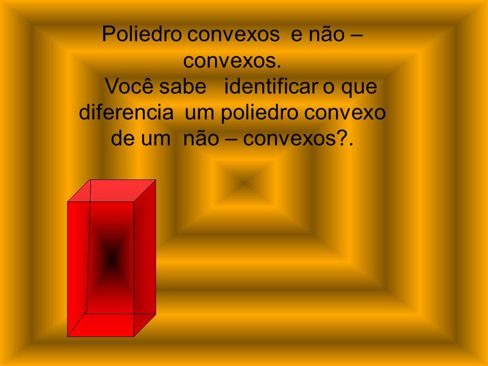 Poliedro convexos e não –convexos.