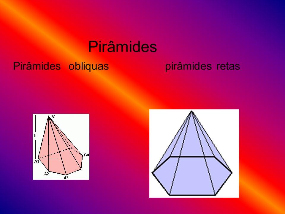 Pirâmides obliquas pirâmides retas