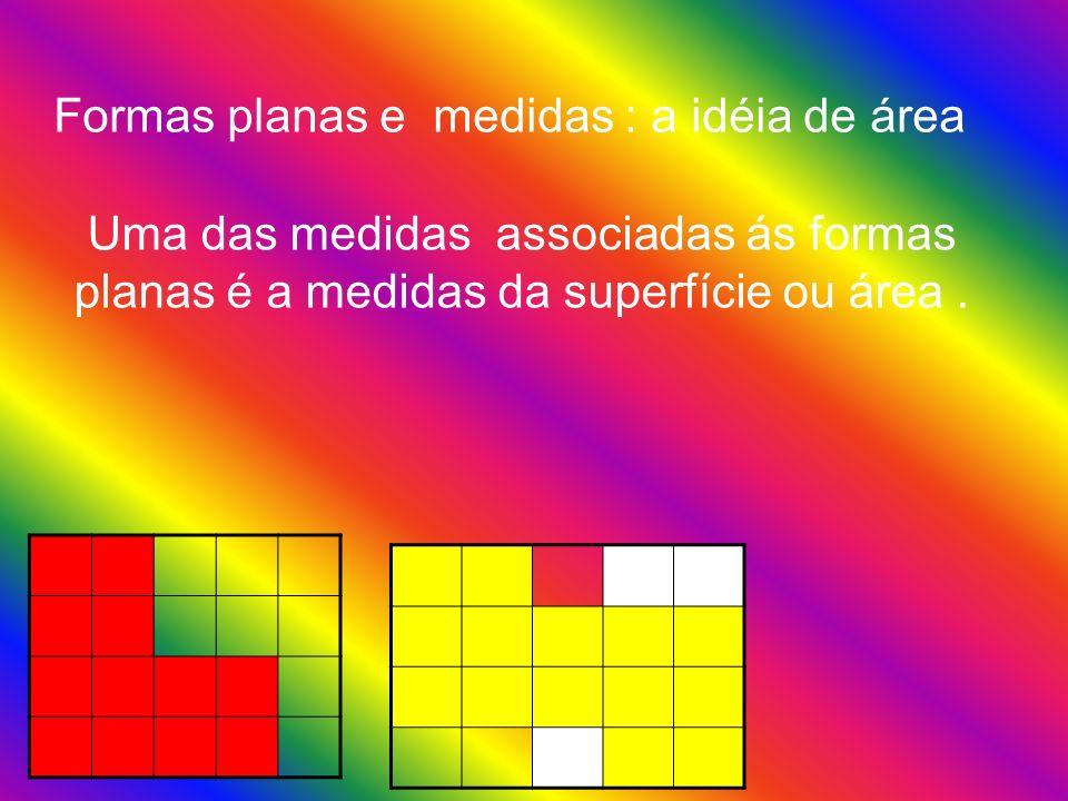 Formas planas e medidas : a idéia de área