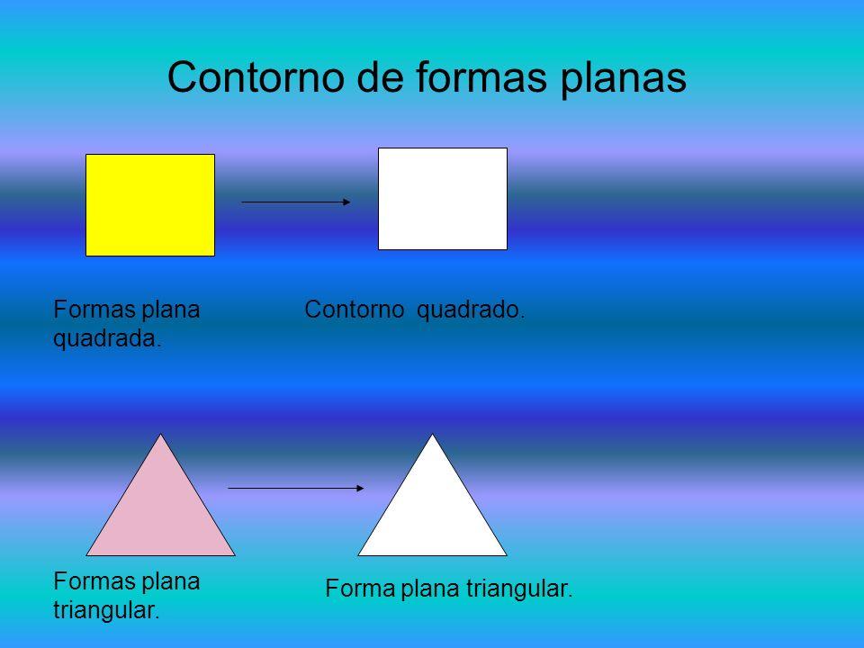 Contorno de formas planas