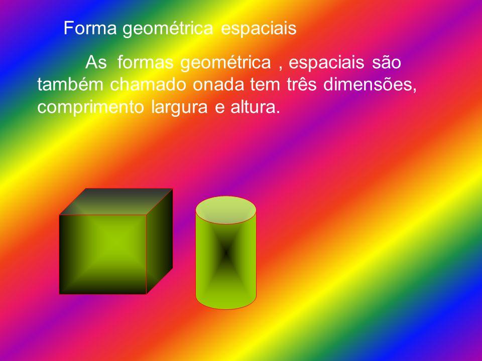 Forma geométrica espaciais