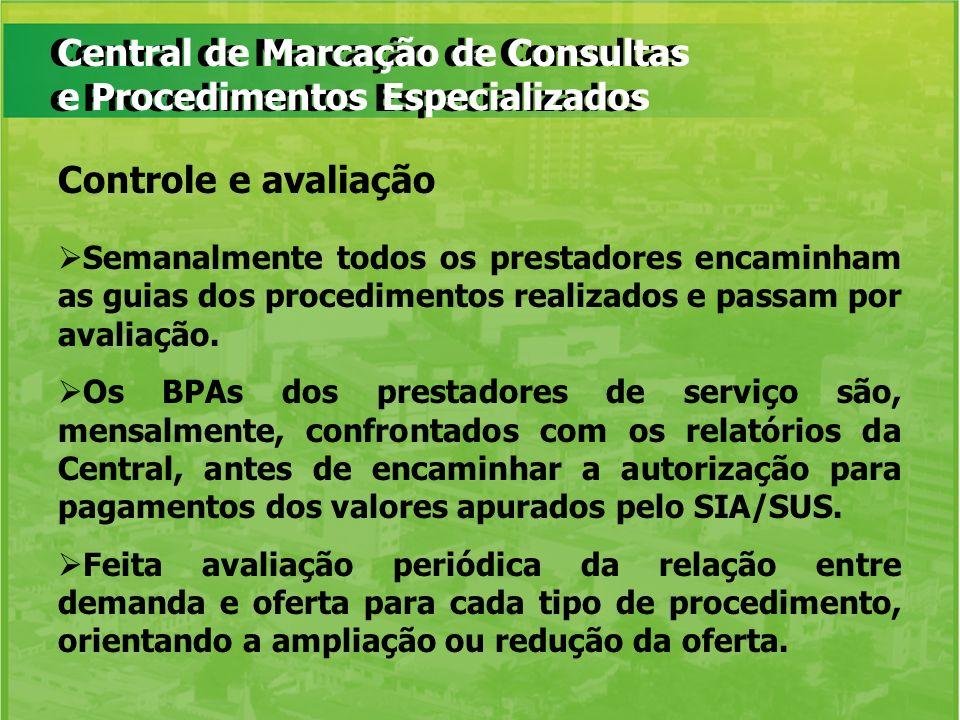 Central de Marcação de Consultas e Procedimentos Especializados