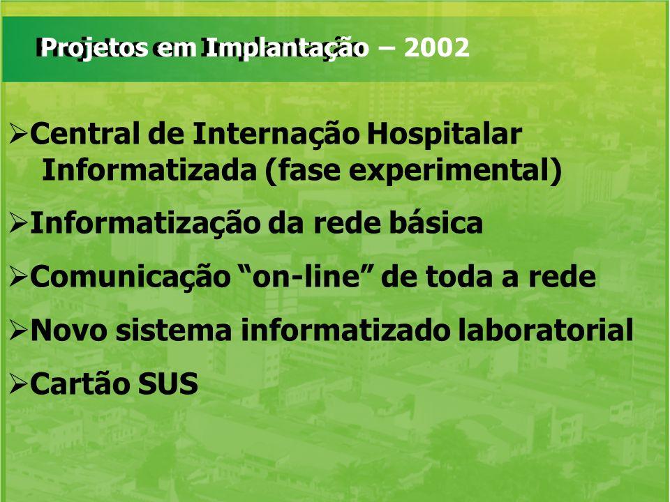 Central de Internação Hospitalar Informatizada (fase experimental)