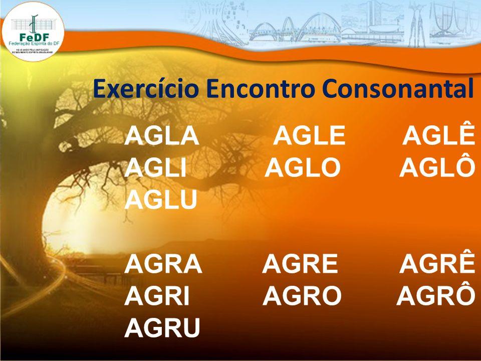 Exercício Encontro Consonantal