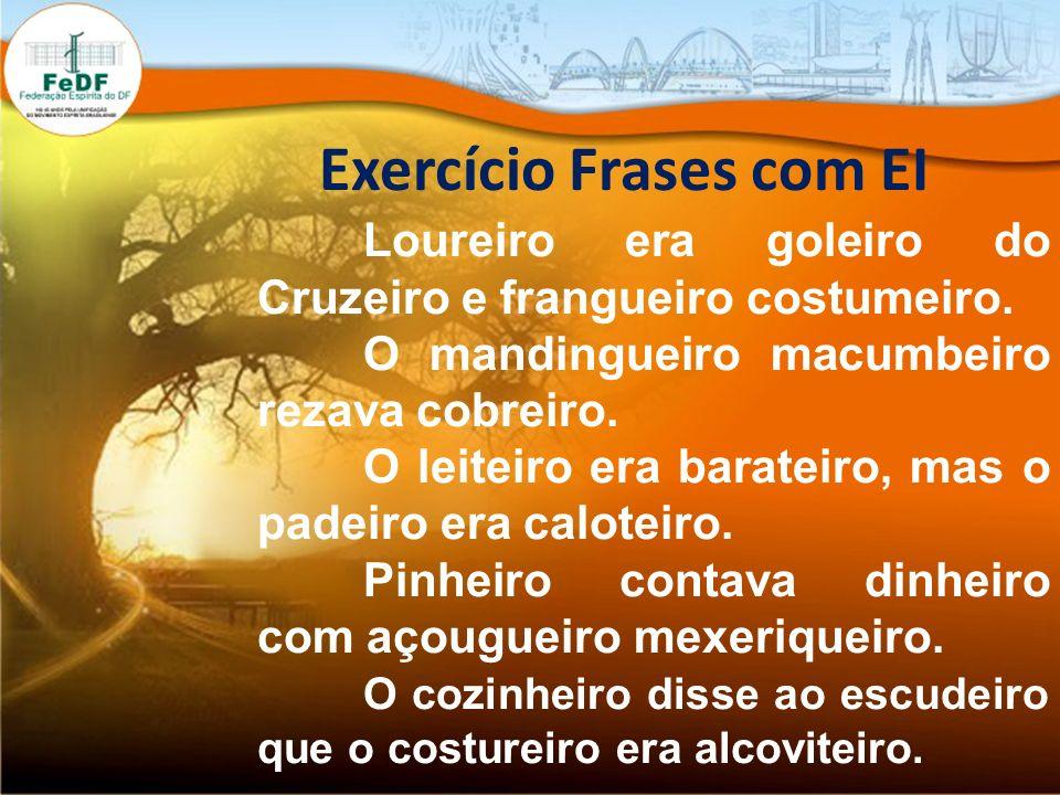 Exercício Frases com EI