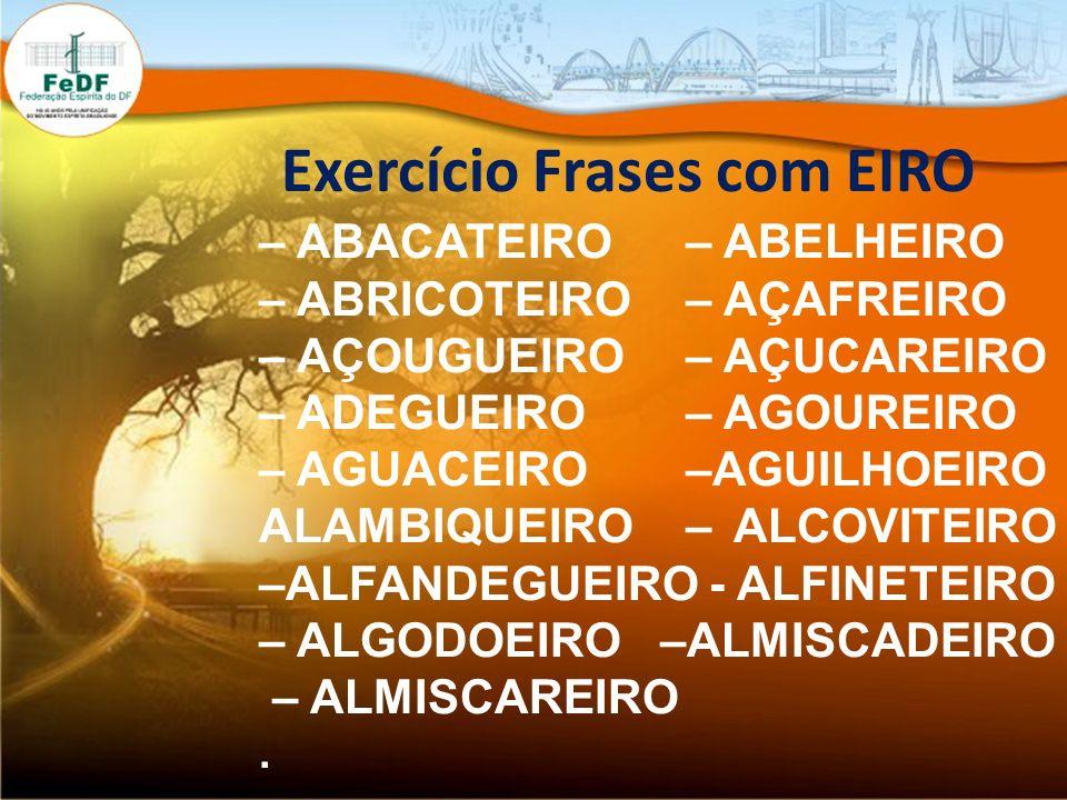 Exercício Frases com EIRO