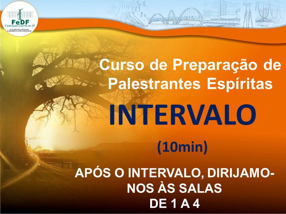 INTERVALO Curso de Preparação de Palestrantes Espíritas (10min)