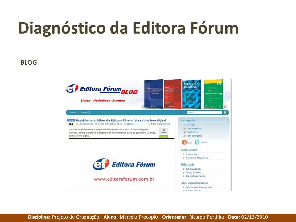 Diagnóstico da Editora Fórum