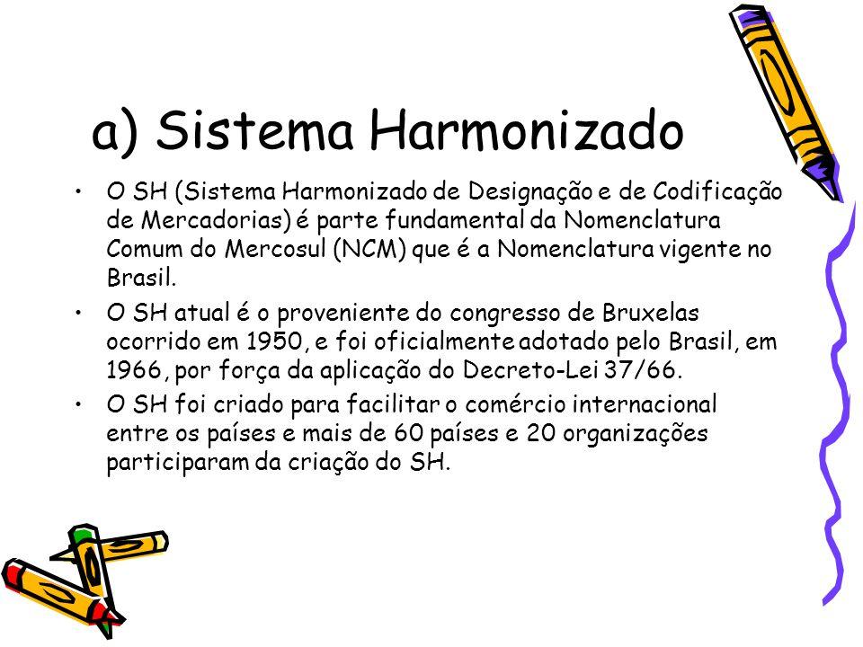 a) Sistema Harmonizado