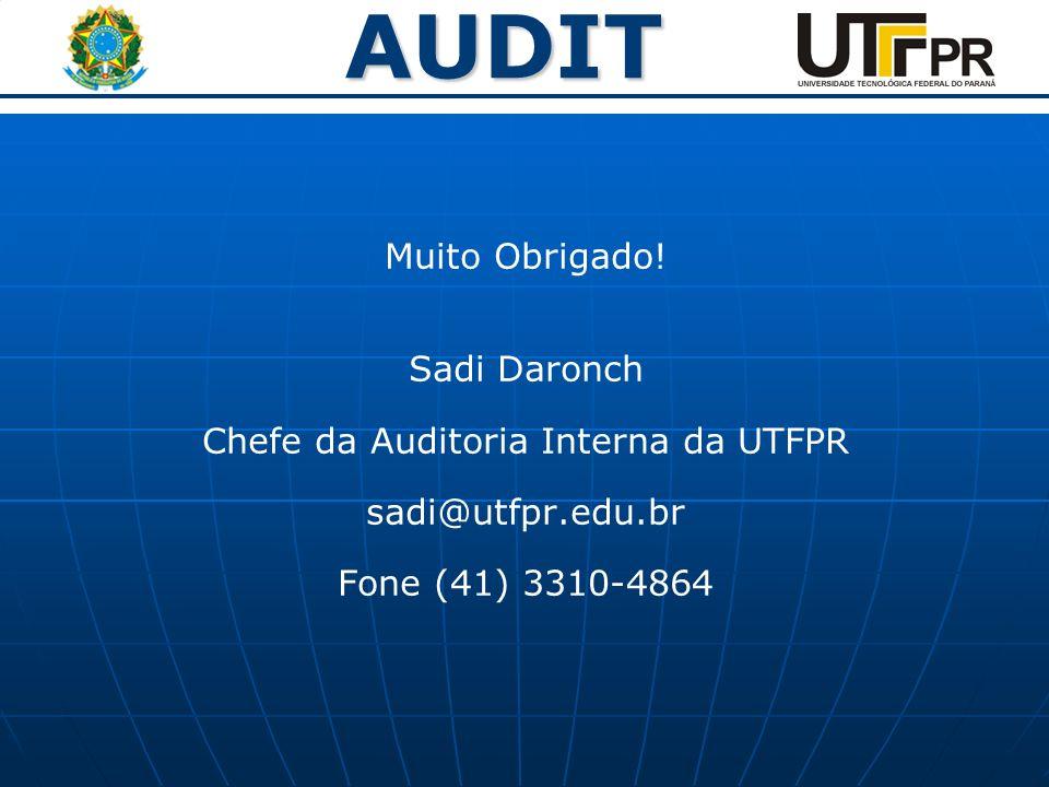 Chefe da Auditoria Interna da UTFPR