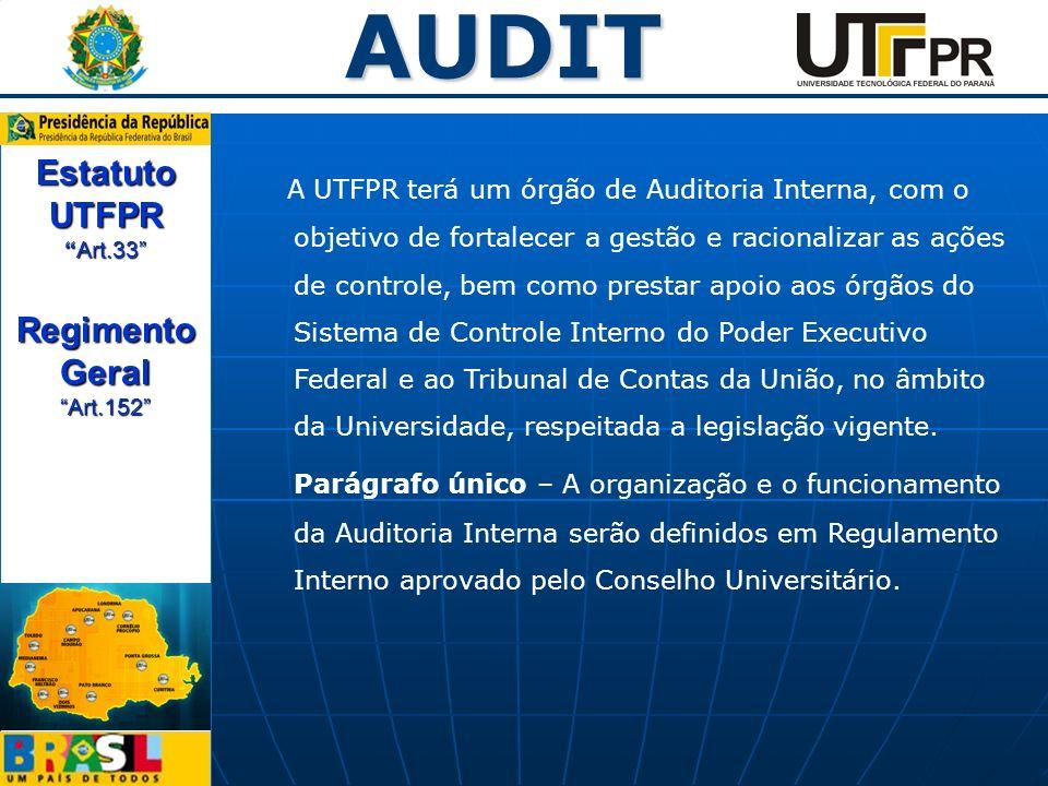 Estatuto UTFPR Art.33 Regimento Geral Art.152