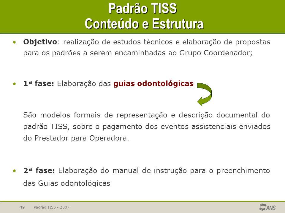 Padrão TISS Conteúdo e Estrutura