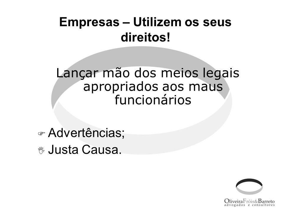 Empresas – Utilizem os seus direitos!