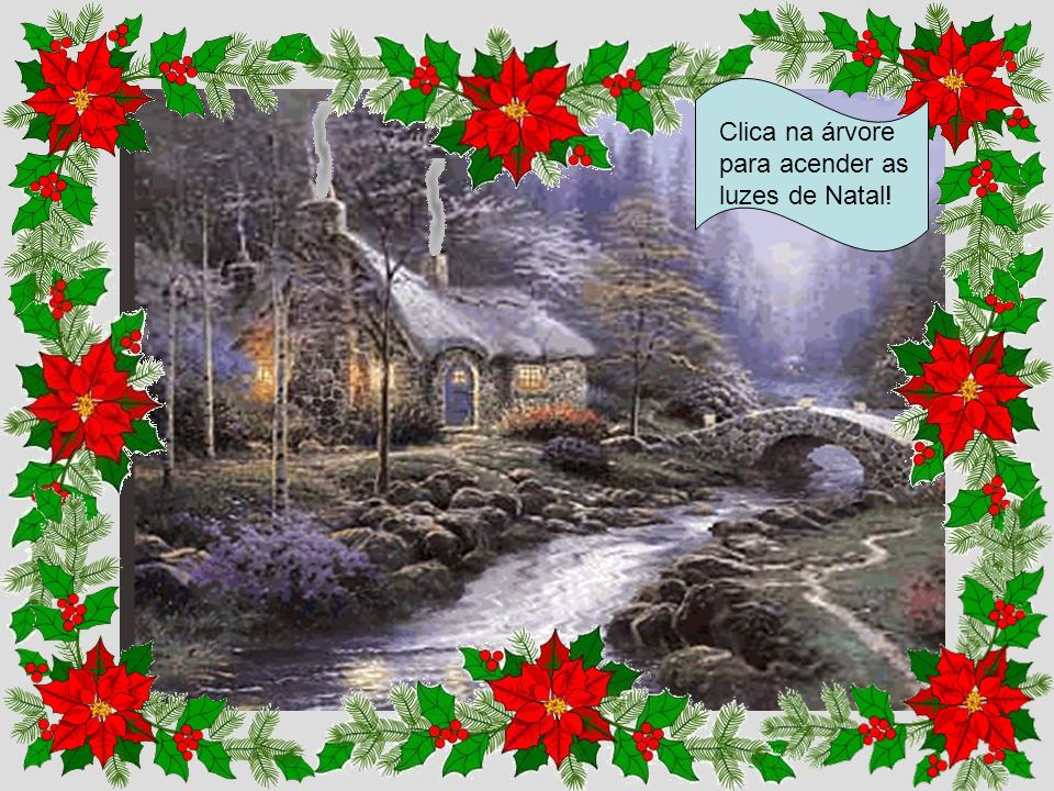 Clica na árvore para acender as luzes de Natal!