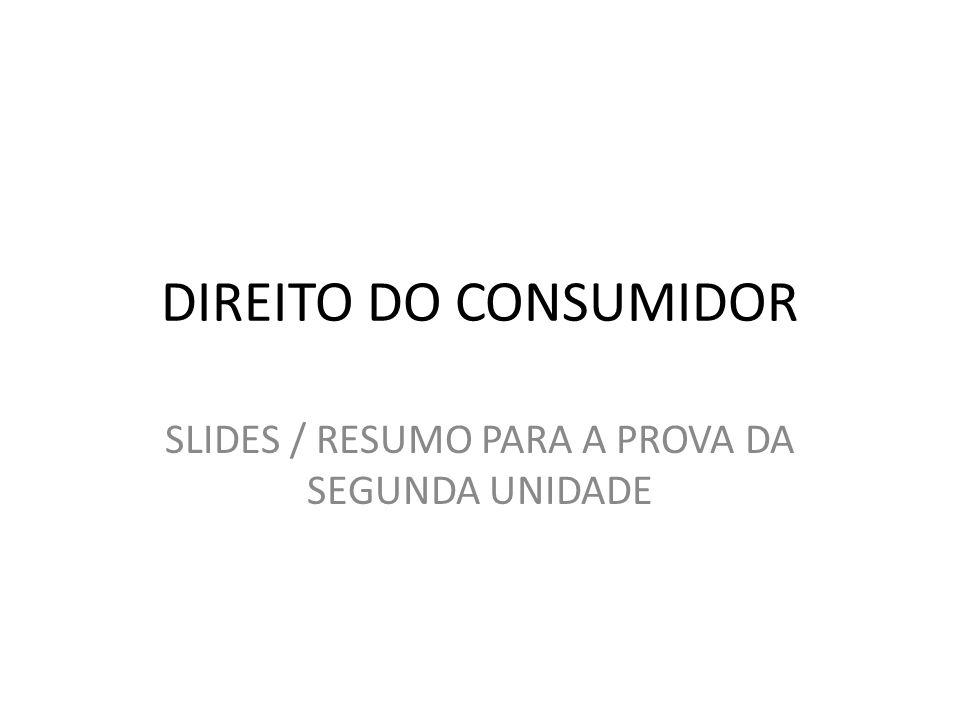 SLIDES / RESUMO PARA A PROVA DA SEGUNDA UNIDADE