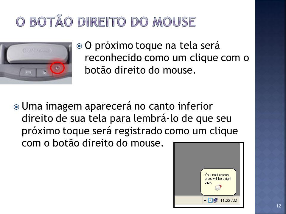 O botão direito do mouse