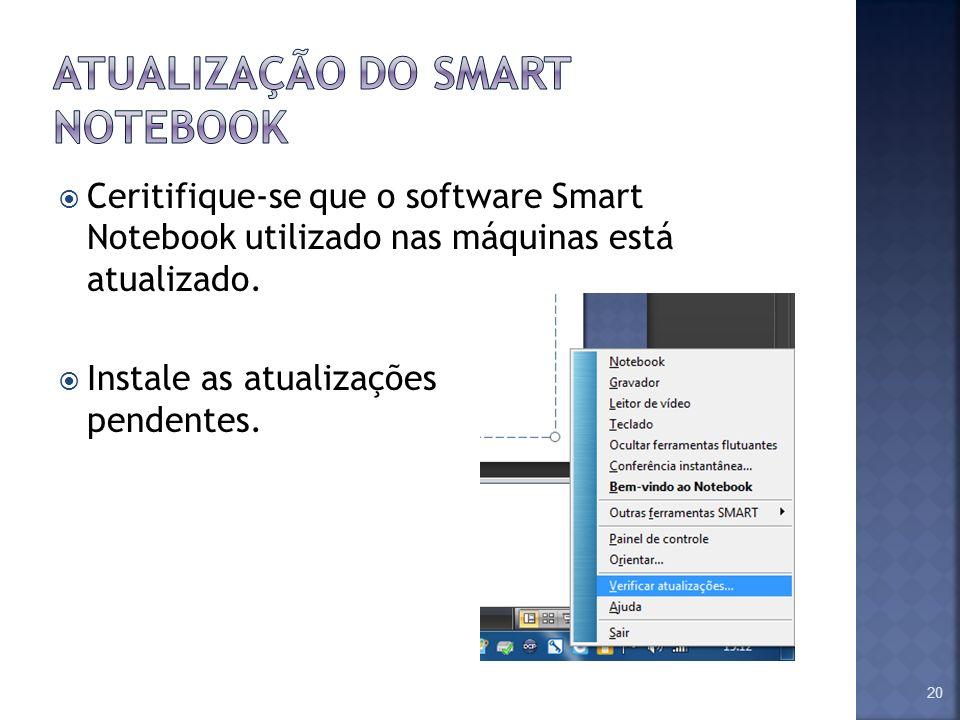 Atualização do smart notebook