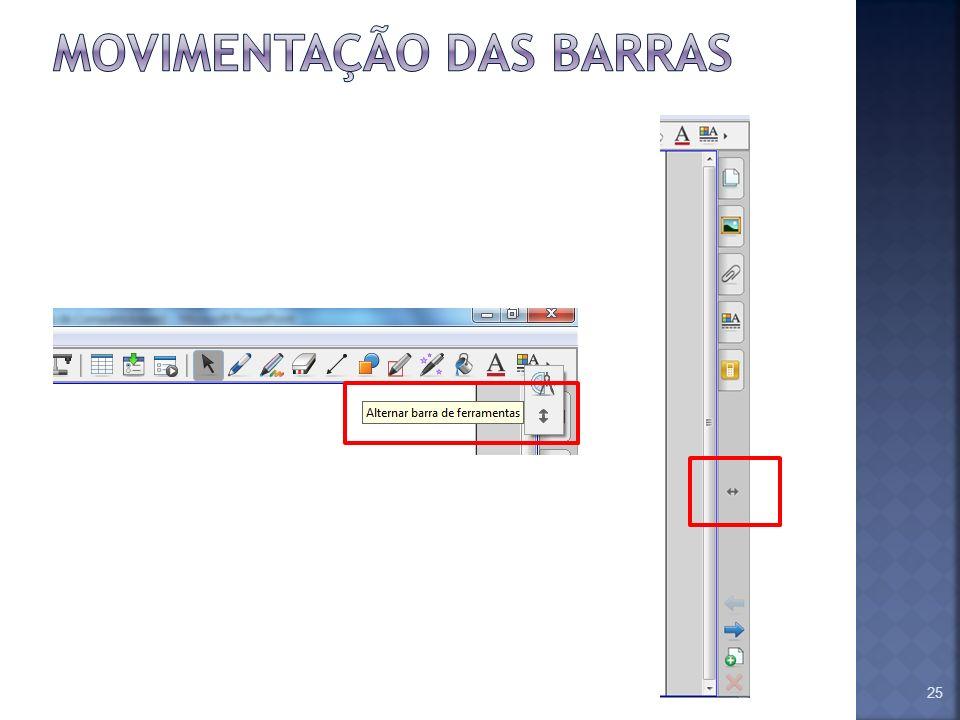 MOVIMENTAÇÃO DAS BARRAS