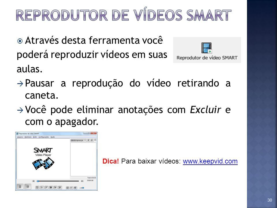 Reprodutor de vídeos smart
