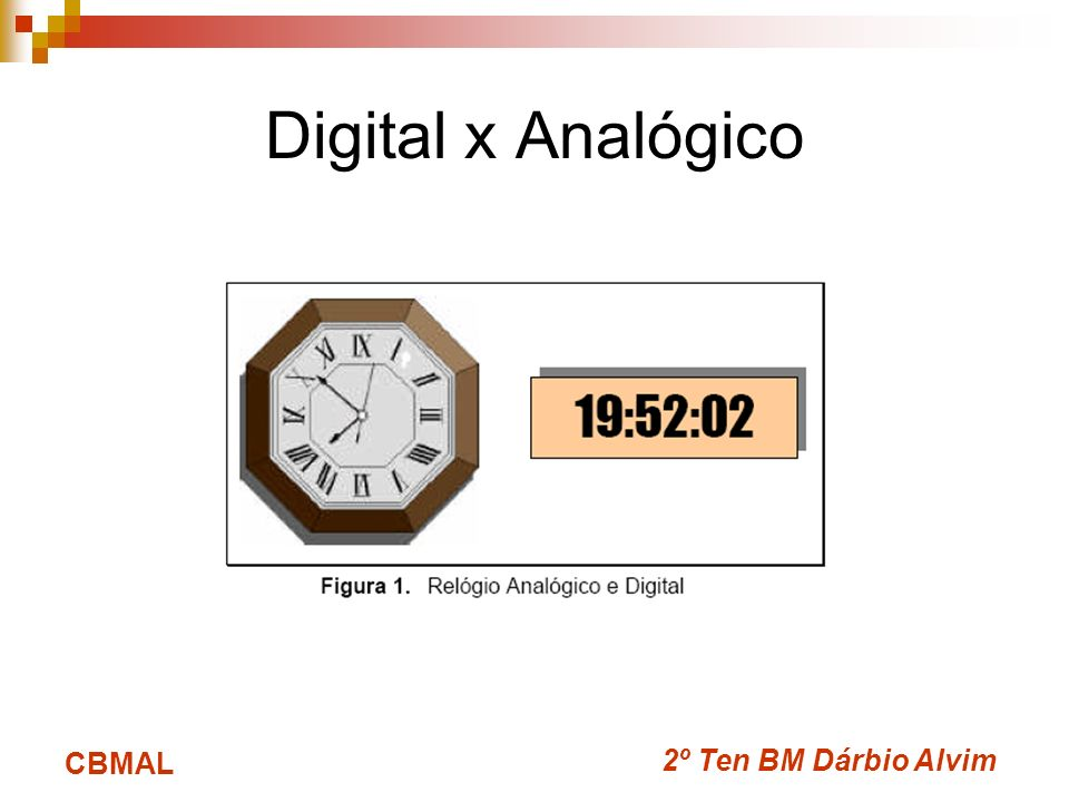 Digital x Analógico CBMAL 2º Ten BM Dárbio Alvim