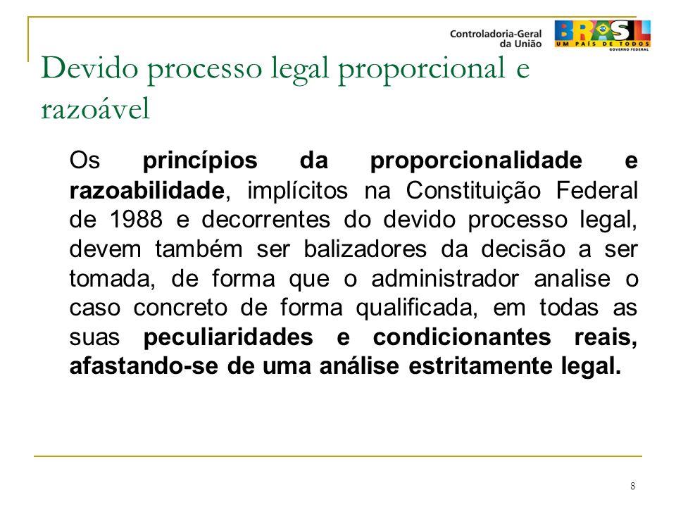 Devido processo legal proporcional e razoável