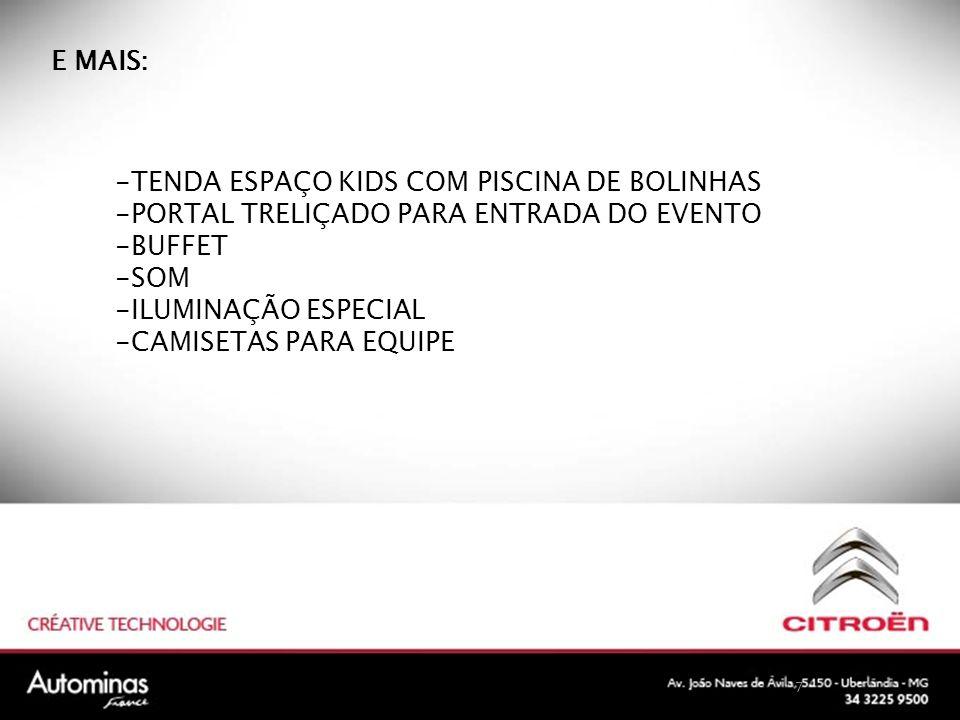 TENDA ESPAÇO KIDS COM PISCINA DE BOLINHAS