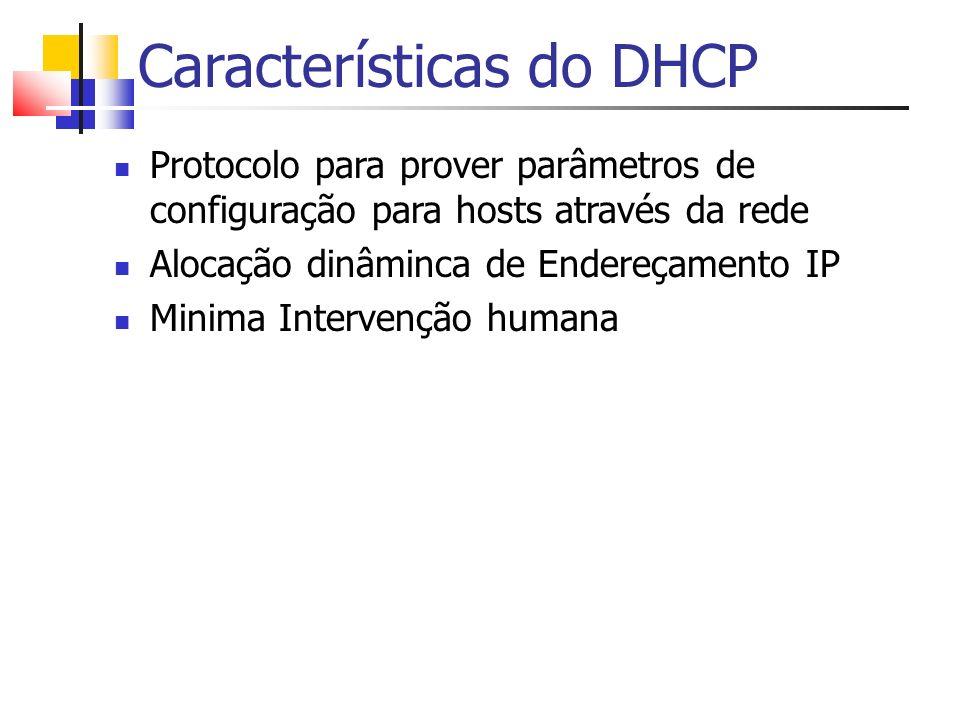 Características do DHCP