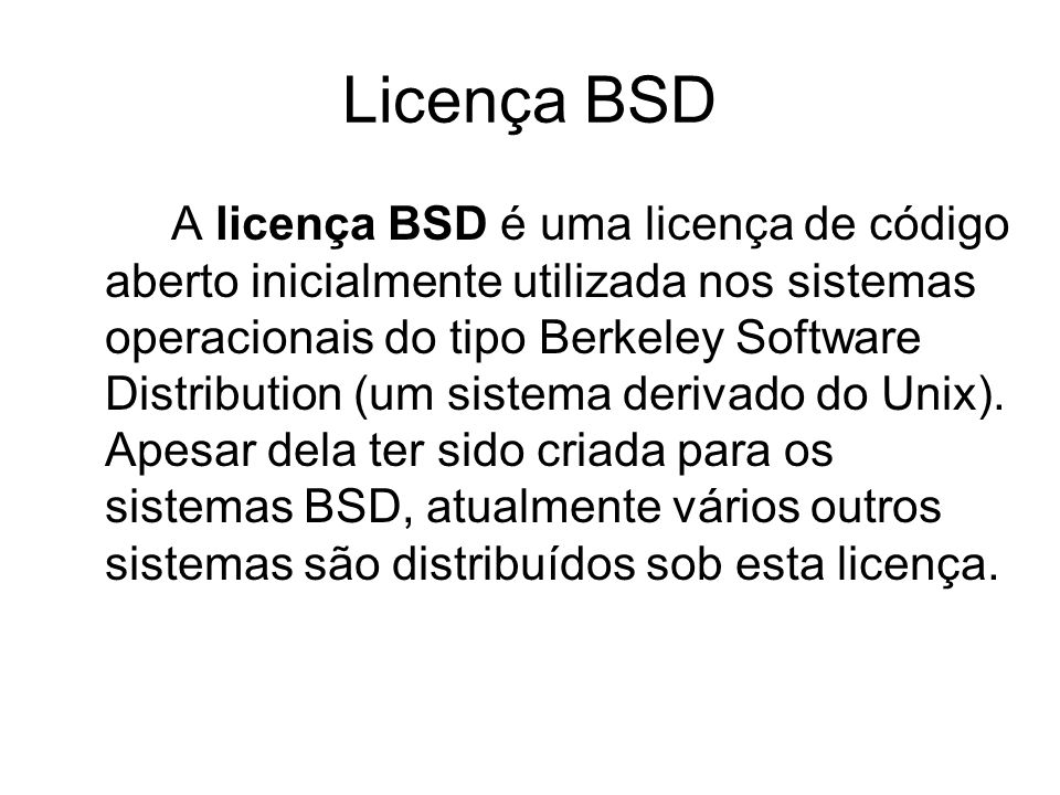 Licença BSD