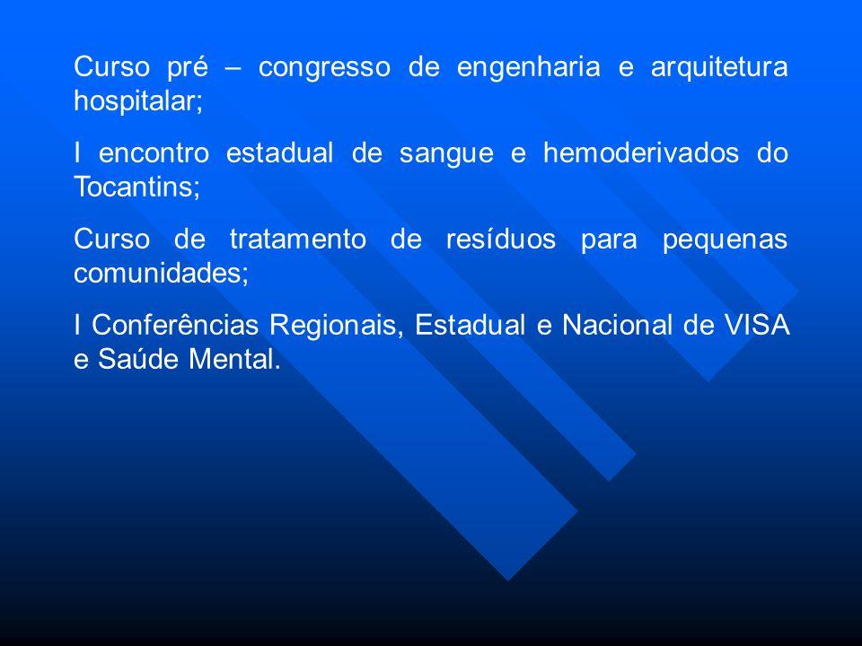 Curso pré – congresso de engenharia e arquitetura hospitalar;