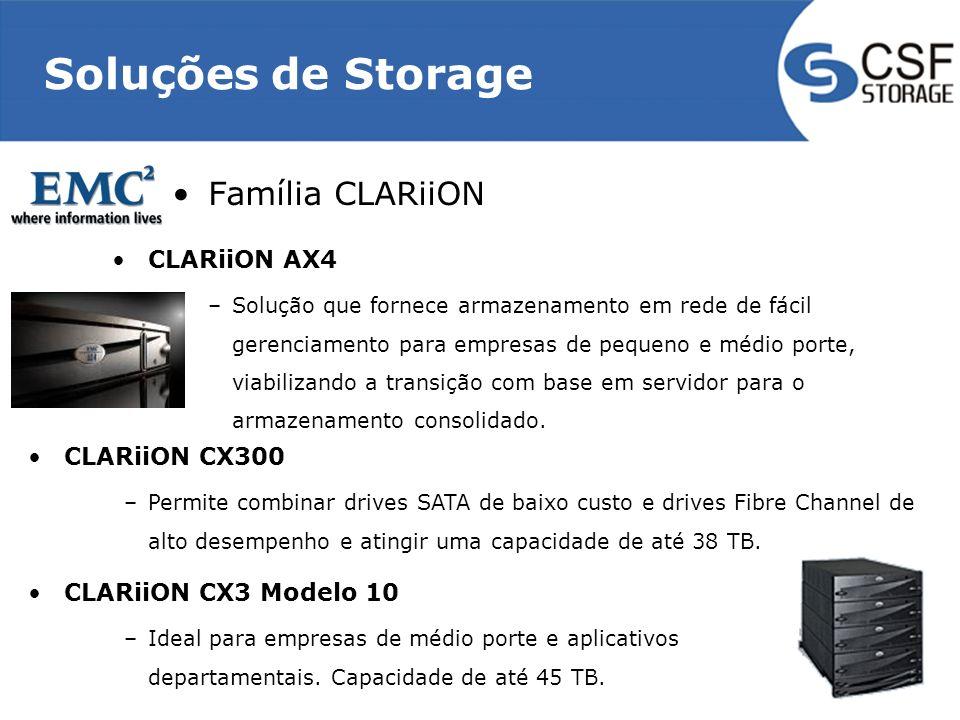 Soluções de Storage Família CLARiiON CLARiiON AX4 CLARiiON CX300