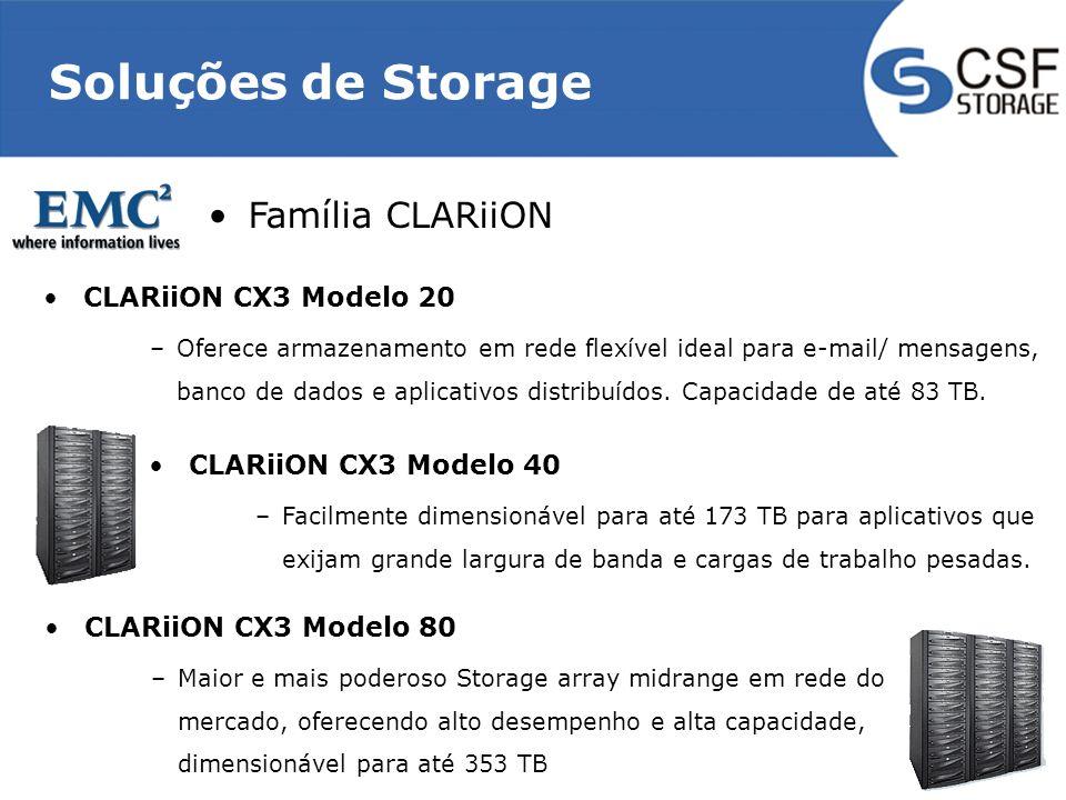 Soluções de Storage Família CLARiiON CLARiiON CX3 Modelo 20