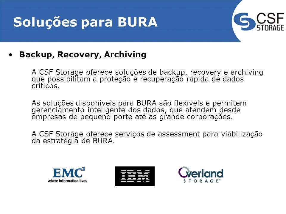 Soluções para BURA Backup, Recovery, Archiving