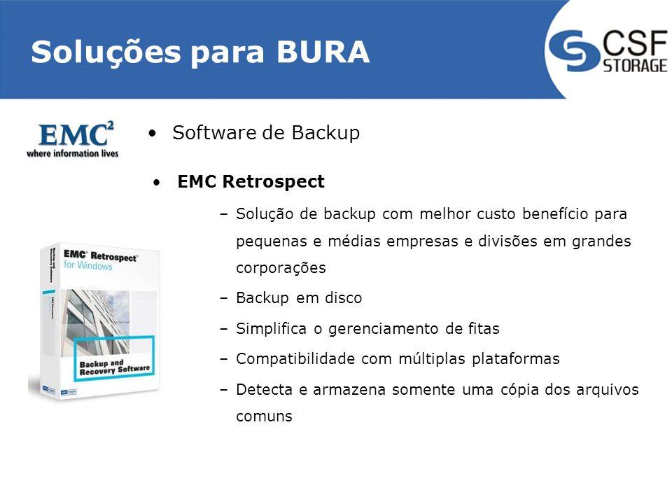 Soluções para BURA Software de Backup EMC Retrospect