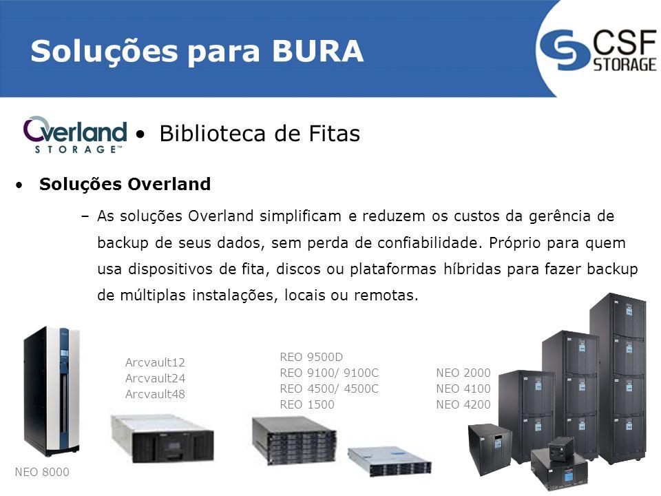 Soluções para BURA Biblioteca de Fitas Soluções Overland