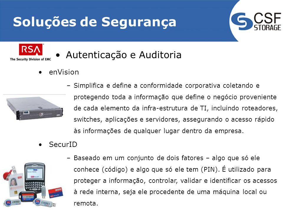 Soluções de Segurança Autenticação e Auditoria enVision SecurID