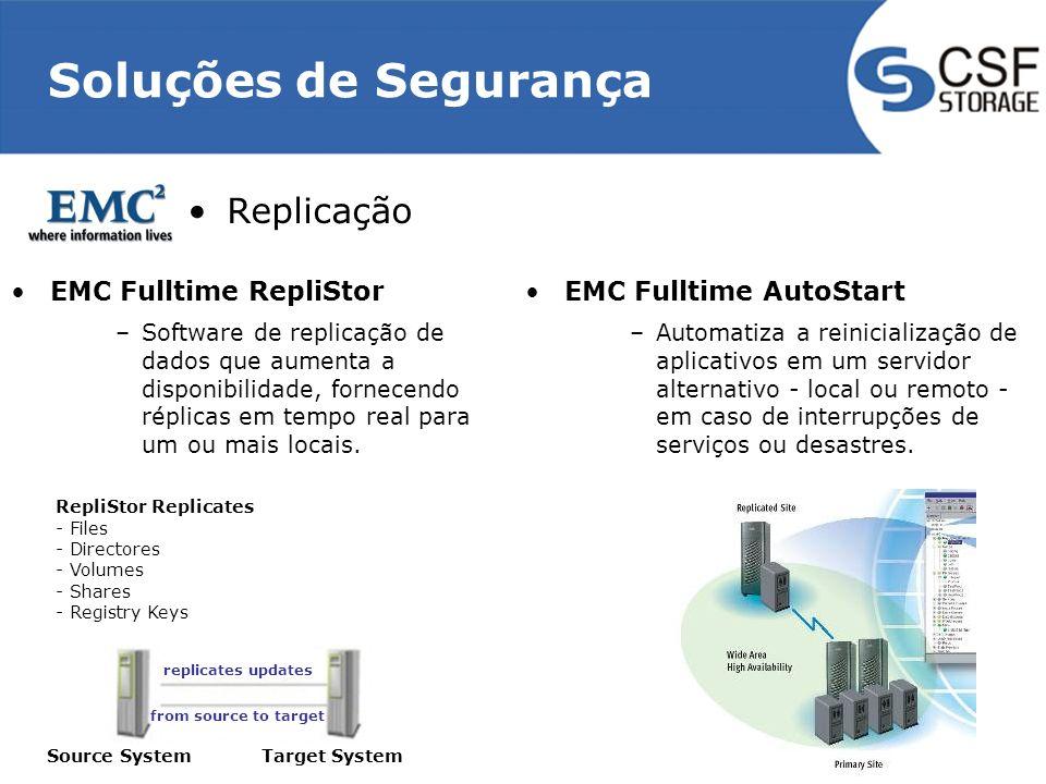 Soluções de Segurança Replicação EMC Fulltime RepliStor