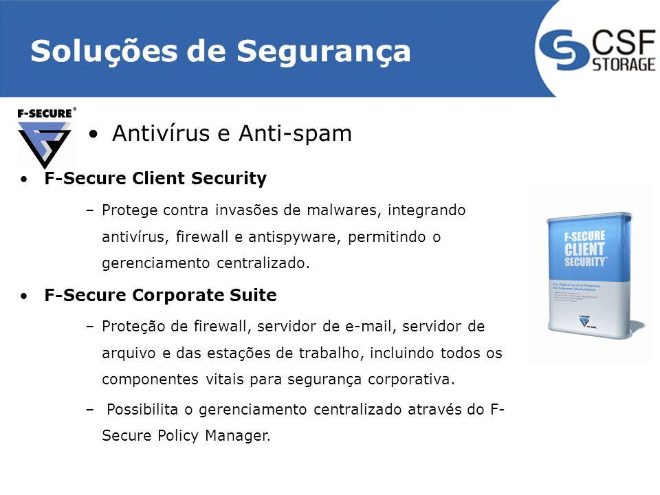 Soluções de Segurança Antivírus e Anti-spam F-Secure Client Security