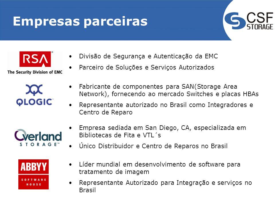 Empresas parceiras Divisão de Segurança e Autenticação da EMC
