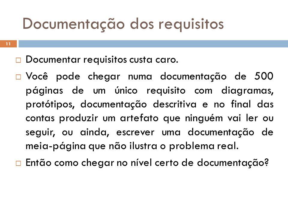 Documentação dos requisitos