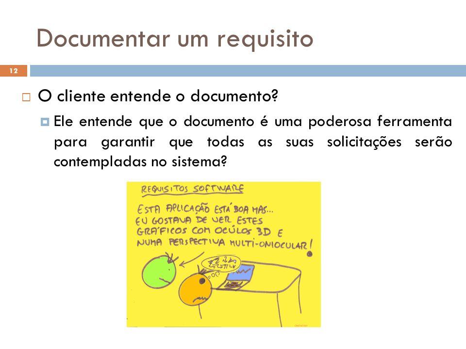 Documentar um requisito