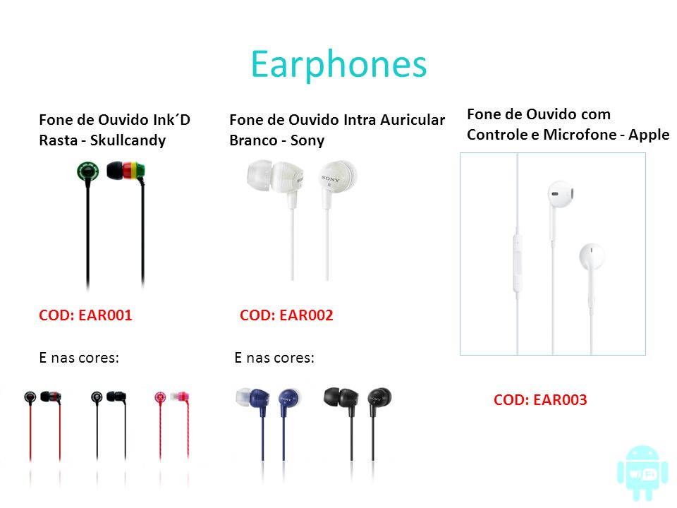 Earphones Fone de Ouvido com Controle e Microfone - Apple