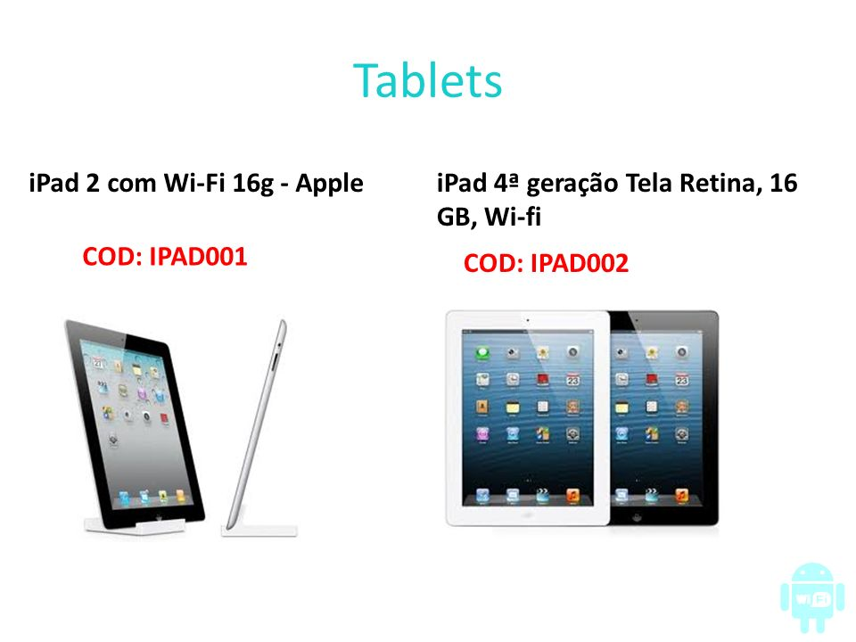 Tablets iPad 2 com Wi-Fi 16g - Apple