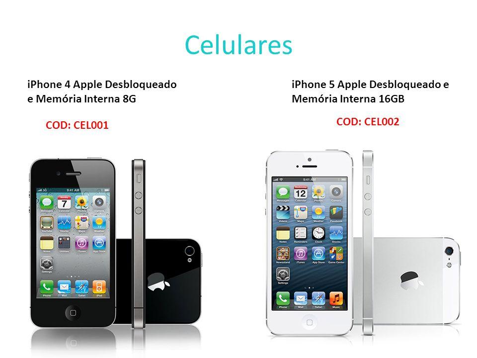 Celulares iPhone 4 Apple Desbloqueado e Memória Interna 8G