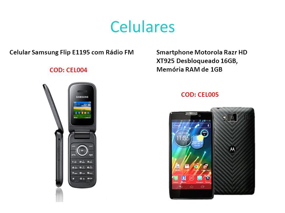 Celulares Celular Samsung Flip E1195 com Rádio FM